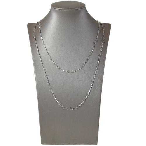 Dainty & Delicate Long Necklace in Sterling Silver