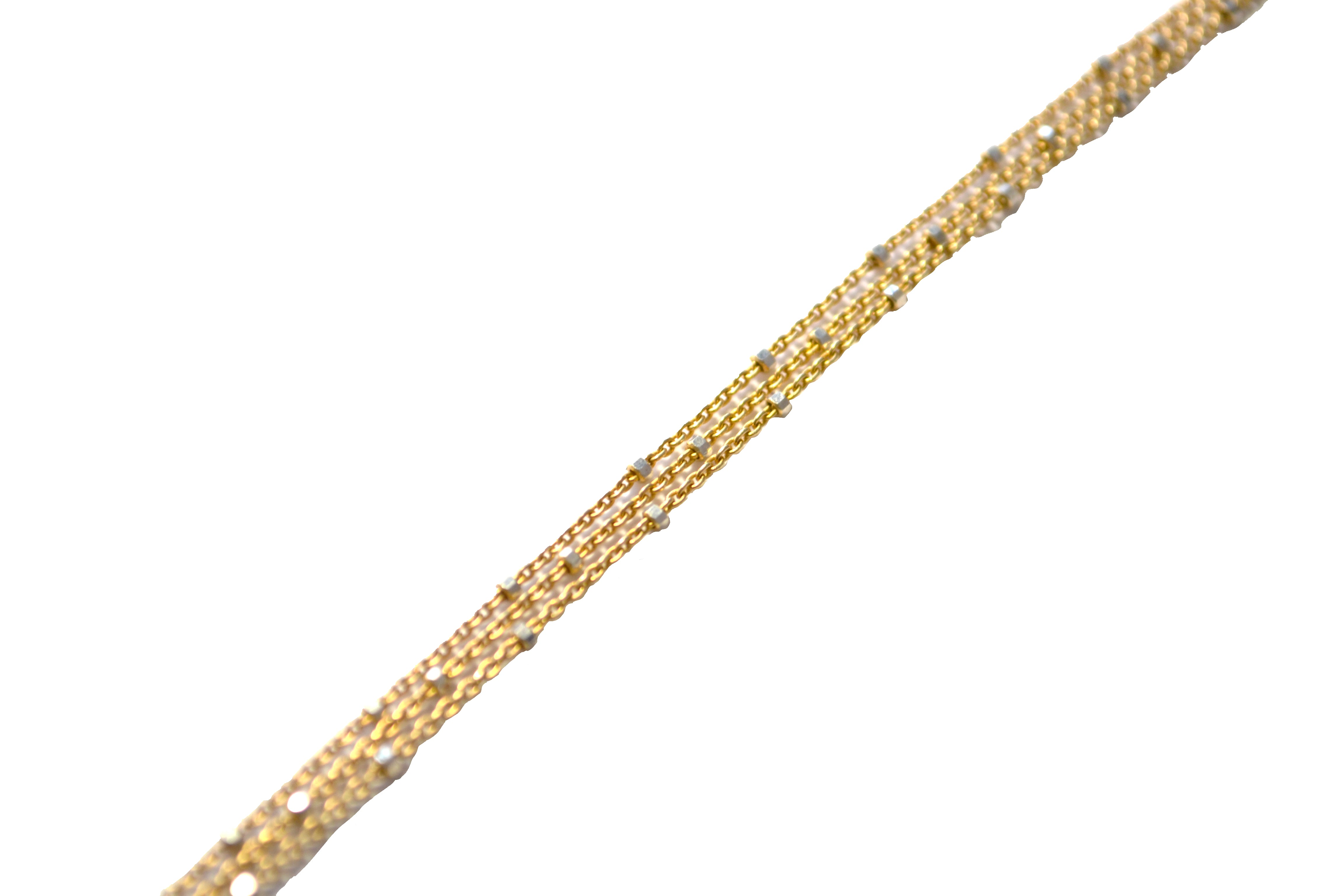 Gold Starry Nights CZ Y Necklace