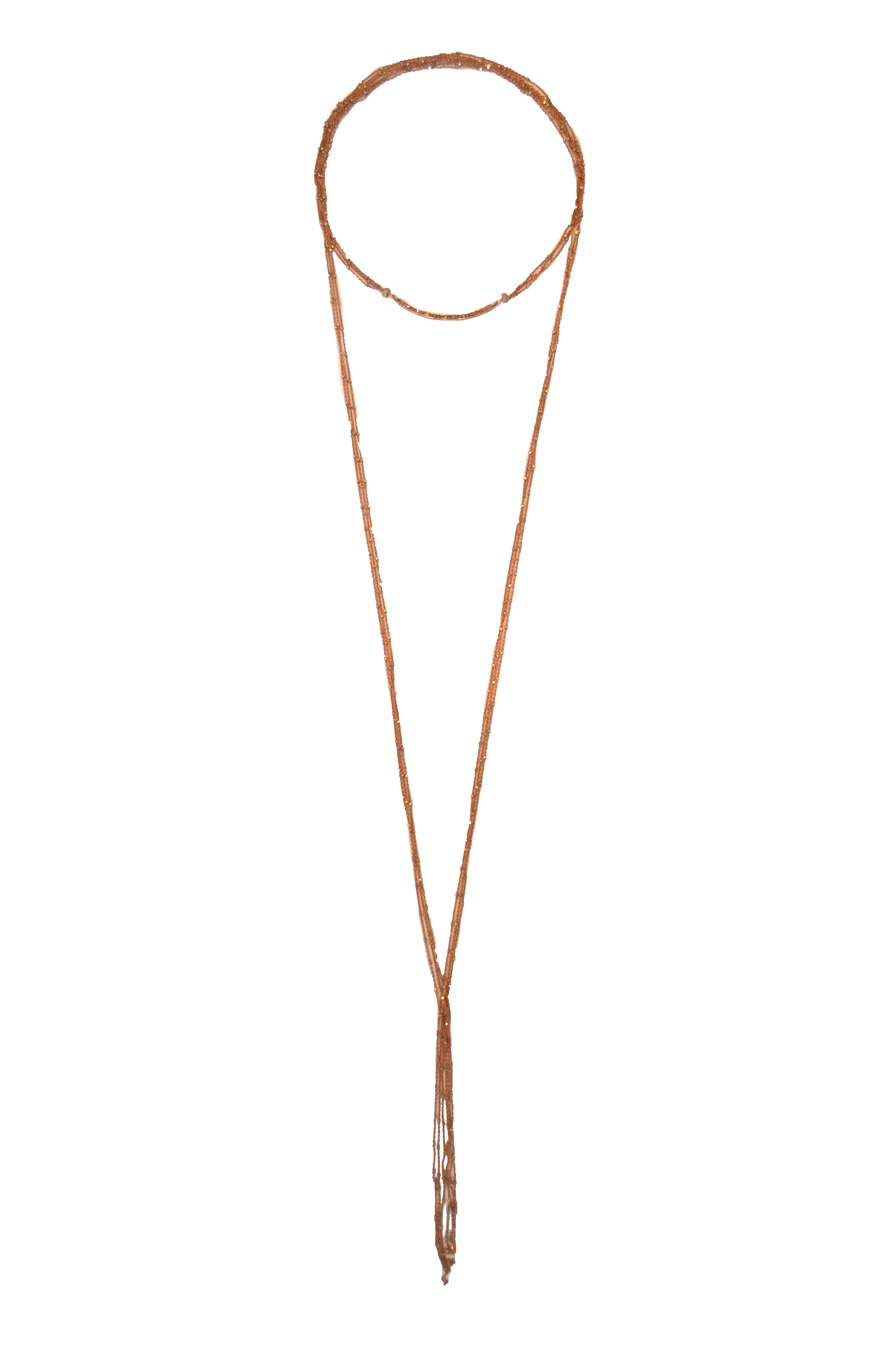 Rose Gold Starry Nights Diamond Smile Lariat Necklace