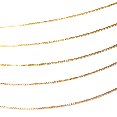 7 Layer Slinky Snake Necklace in Gold