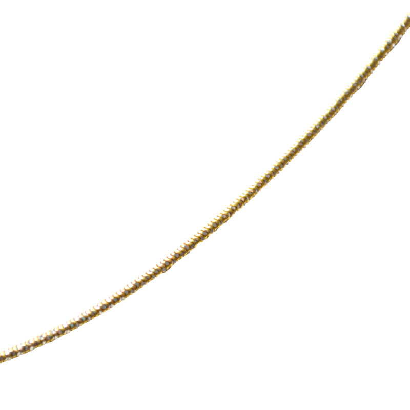 Slinky Snake Necklace in Gold