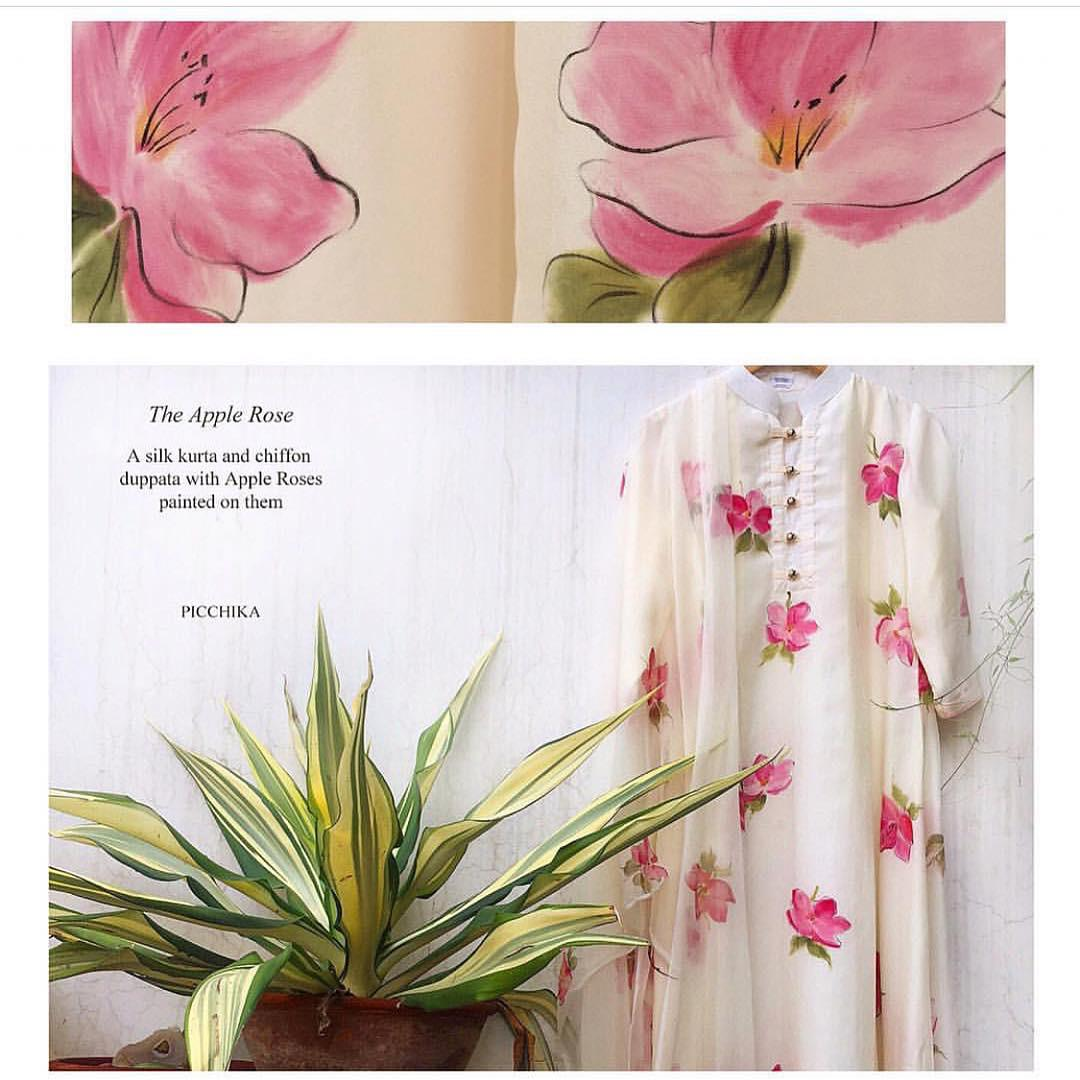 Apple rose kurta and duppata