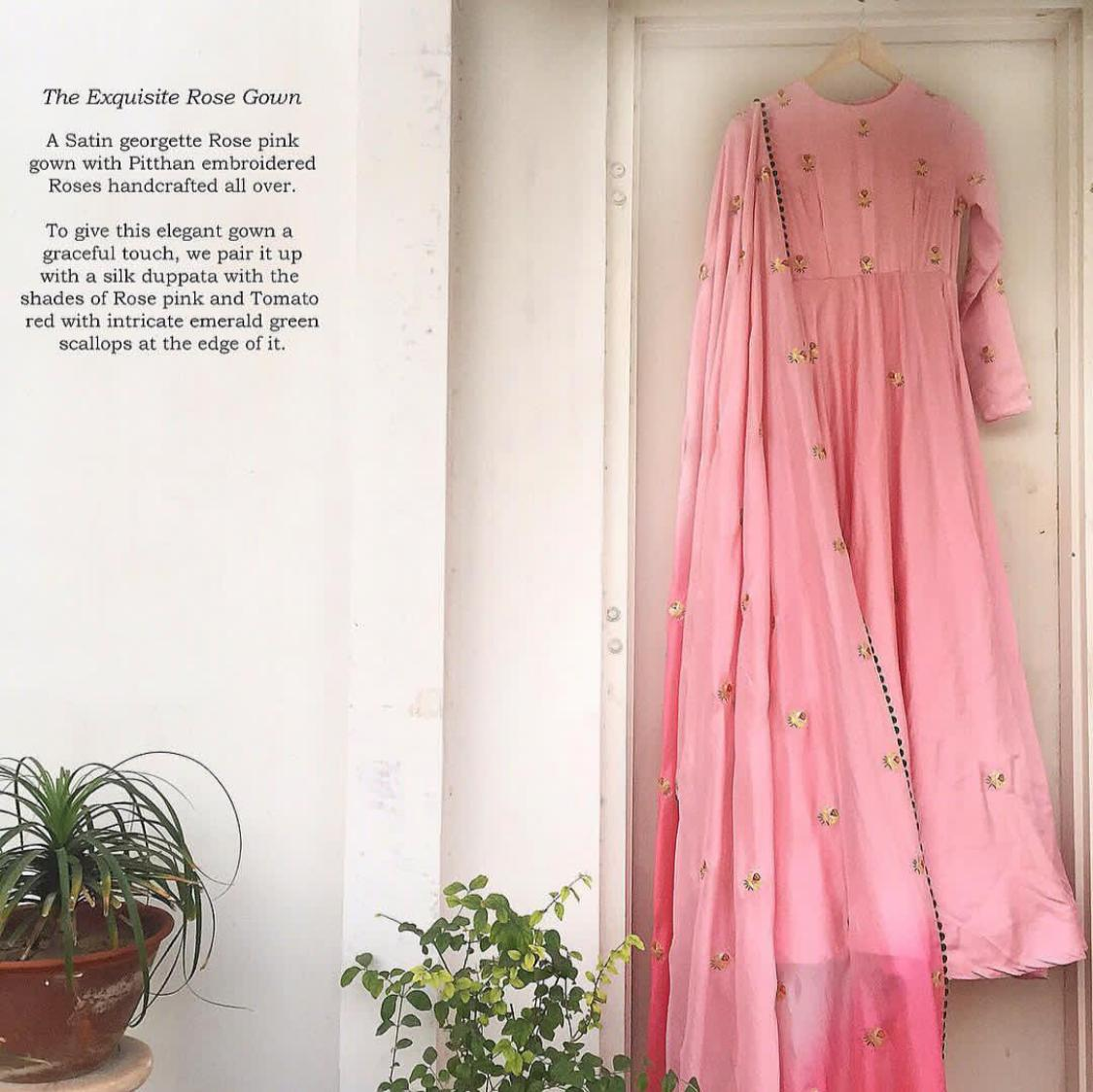 The Exquisite Rose gown