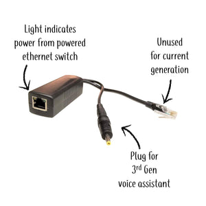 Power over Ethernet (PoE) Splitter Adapter For Amazon Echo Dot 3rd Generation