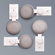 Mount Genie Affordable Essentials Google Home Mini Outlet Wall Mount Hanger Stand | A Low-Cost Space-Saving Solution
