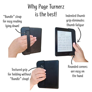 PageTurnerz 5-in-1 Grip Case Deluxe for Amazon Kindle Paperwhite 10th Generation eReader - (2019 - Current Model)