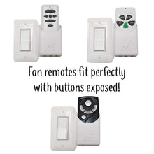 The No Screw-Ups Remote Control Holder Deluxe. Installs in Seconds on Any Light Switch. Never Lose Another Remote.