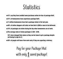 Package Mat Deluxe [Dry-Erase] – A Simple Way to Let Deliveries Know Where to Leave Your Stuff.