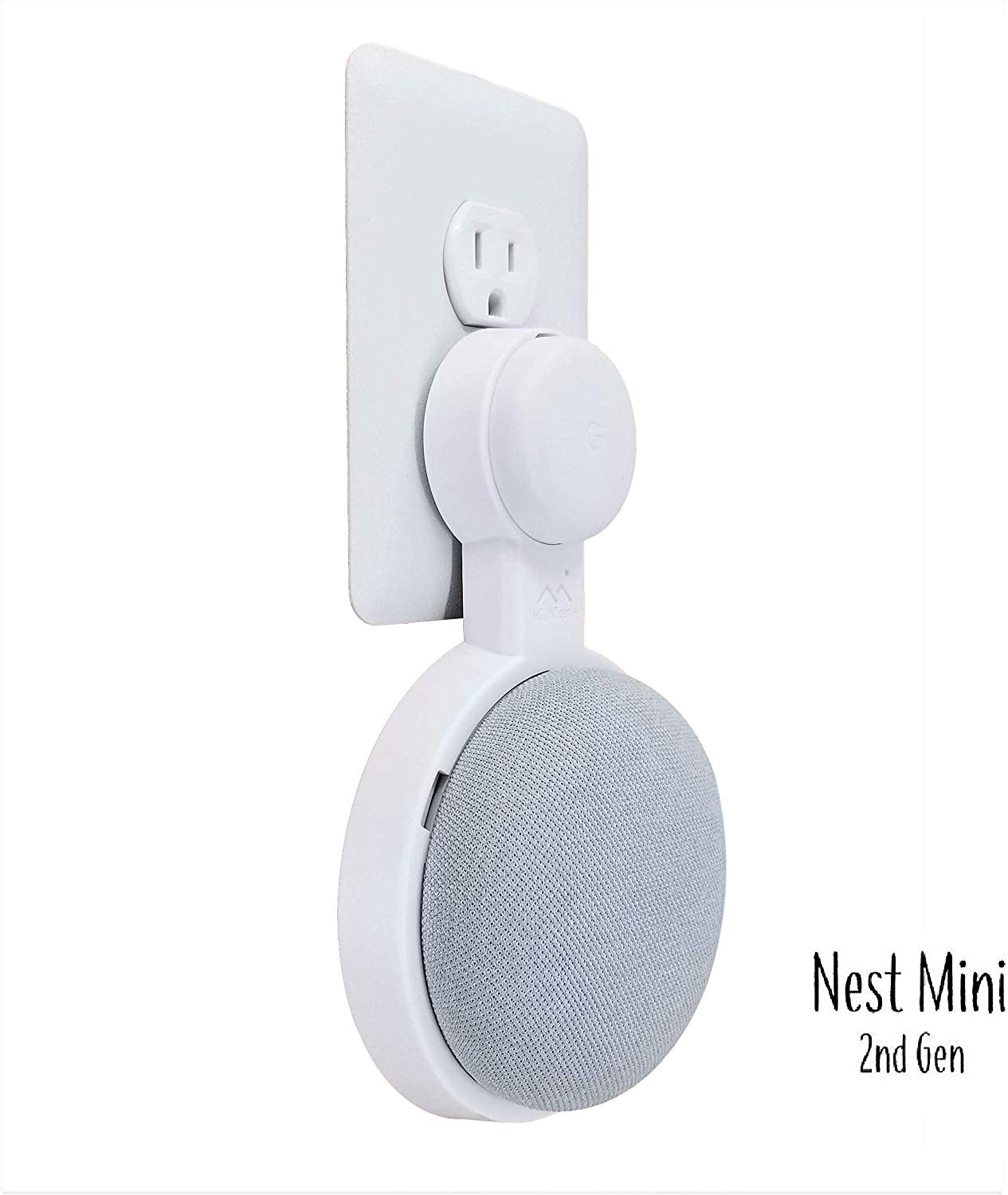 Silver Mount Genie Pedestal for Nest Mini 2nd Gen | Improves Sound and Appearance and Google Home Mini Cleanest Mount Holder Stand for Mini 1st Gen