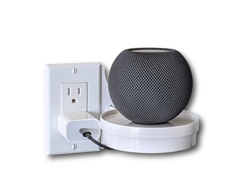 The Easy Outlet Shelf For Small Electronics Like Apple Home Pod Mini, Echo Dot 4th Gen, Google Home and more