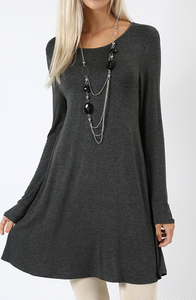 ROUND NECK TUNIC OR DRESS