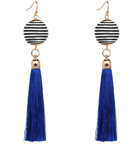 Tassel Drop Earrings (BLUE)