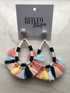 FRINGE EARRINGS (MULTI)
