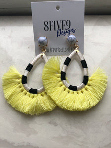 FRINGE EARRINGS (YELLOW)