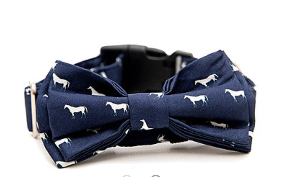 PADDOCK DOG COLLAR BOW TIE