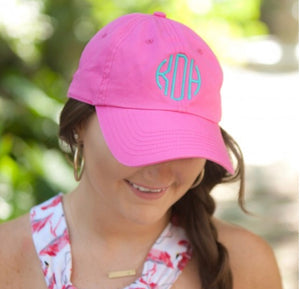 Monogram Hat with Mint Thread