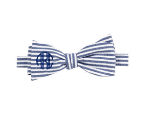 Monogram Seersucker Bow tie