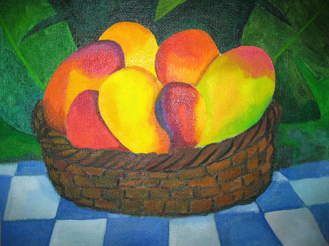 "still life painting called ""Mangos"""