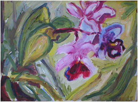 "oil on canvas called ""Orchids"""
