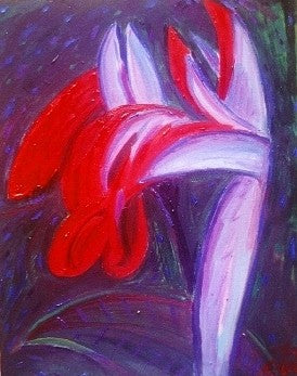 "oil painting called ""Night Lilly"""