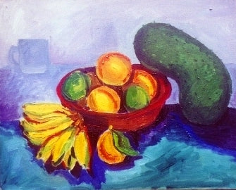 "oil on canvas ""Sour sop Still Life"""