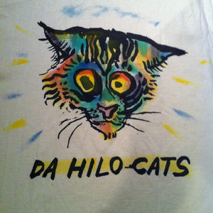 Hilo Cats (Romeo) - Hand printed & hand colored shirt