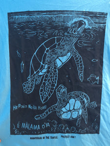 Honu Ladies Tee - a hand printed shirt