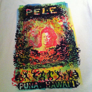 Pele - a hand printed and hand colored shirt