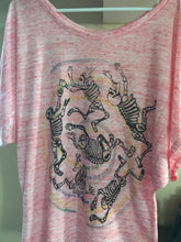 Posada (Ladies flowy) - a hand printed and hand colored shirt