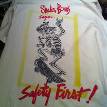 Shaka Bones - a hand printed and hand painted shirt