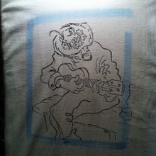 Unco Luther- a hand printed and hand colored shirt