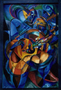 Blues Man oil painting