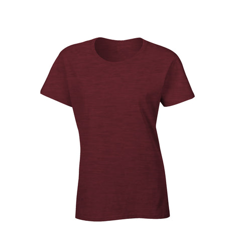 Classic cotton semi fitted ladies t-shirt