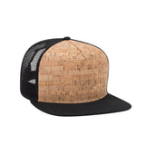 Cork flat brim trucker hat