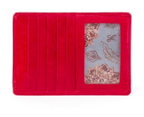 Hobo Euro Slide Passport Red Card Holder