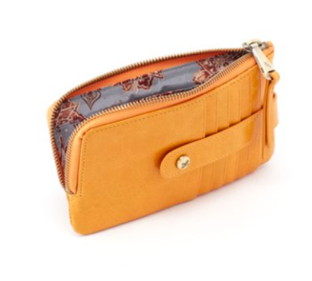 Hobo Amber Flash Leather Credit Card Case