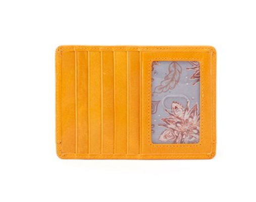 hot sales 38f1d b0cd0 Hobo Amber Euro Slide Leather Credit Card Case Passport Holder