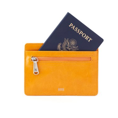 Hobo Amber Euro Slide Leather Credit Card Case Passport Holder