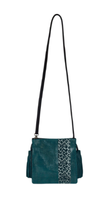 Kelly Wynne Sorry Not Sorry Satchel in Midnight Agave