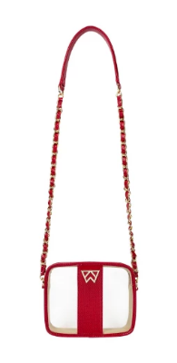 Kelly Wynne Clear Mingle Mingle Mini in Red Haute