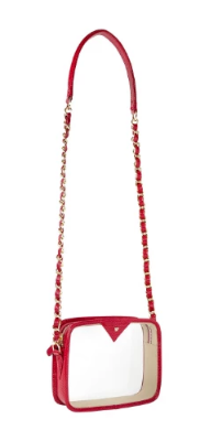 Kelly Wynne Clear Mingle Mingle Mini with Mini Logo in Red Haute