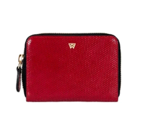 Kelly Wynne Money Maker Mini Wallet in Red Haute
