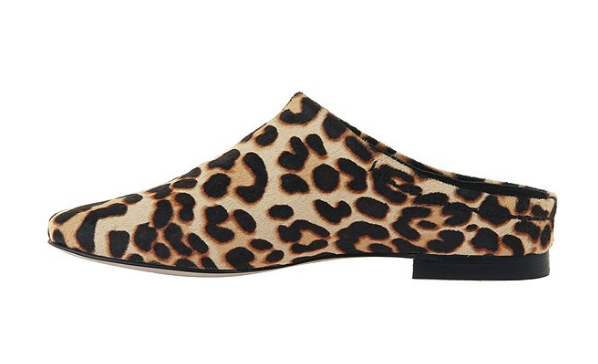 Fondo Leopard Print Leather Mules