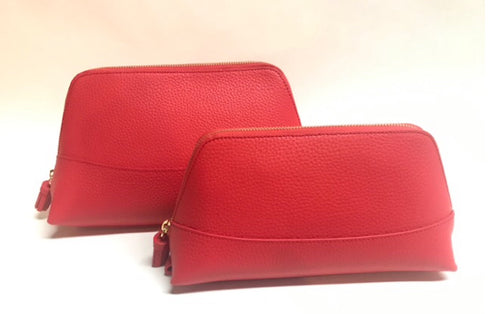 Neely & Chloe Small Cosmetic Bag in Scarlet