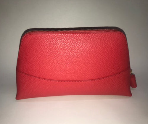 Neely & Chloe Large Cosmetic Bag in Scarlet