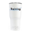 RTIC Training Concepts on White Gloss 20oz Tumbler