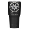 RTIC 40th Anniversary with Name on Black 30oz Tumbler