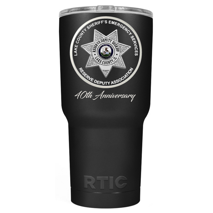 RTIC Reserve Academy on Stainless 30oz Tumbler