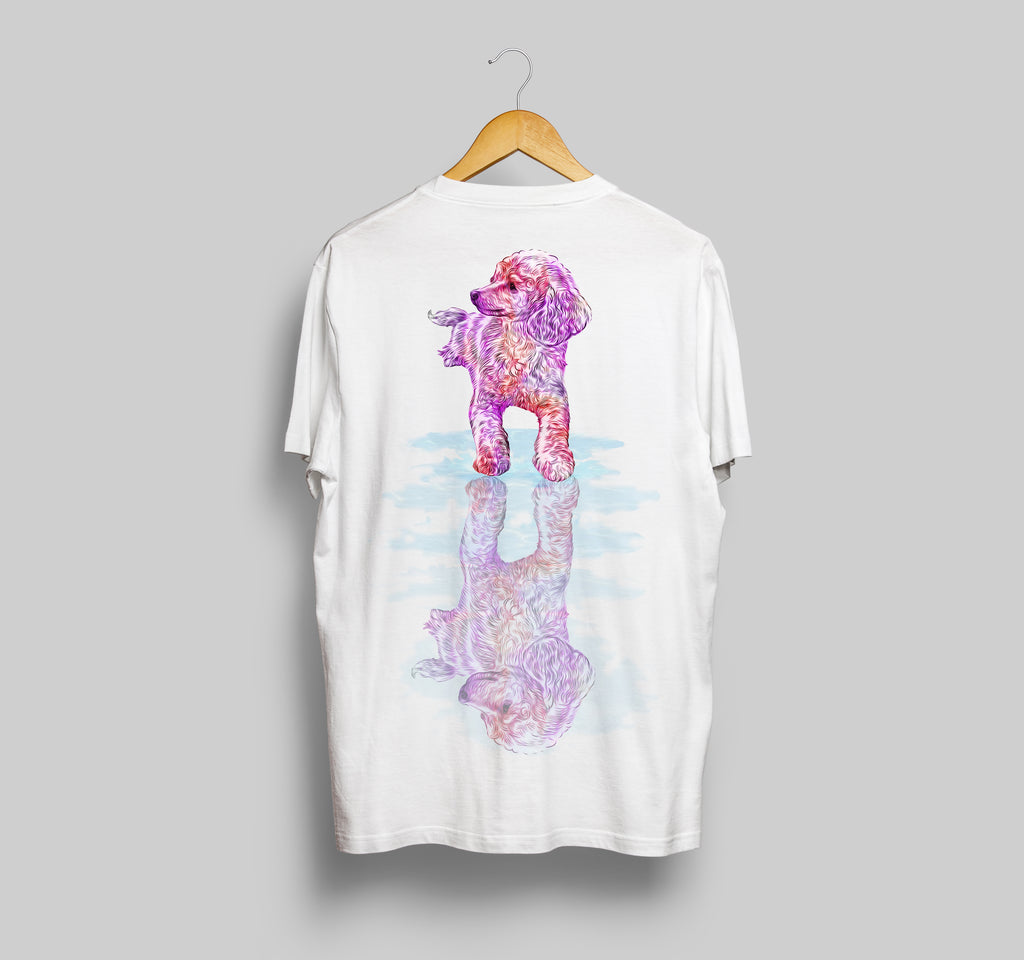 Poodle Reflection Short-Sleeve Unisex T-Shirt