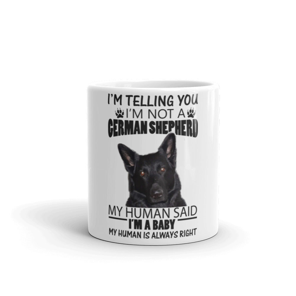 Black German Shepherd Mug